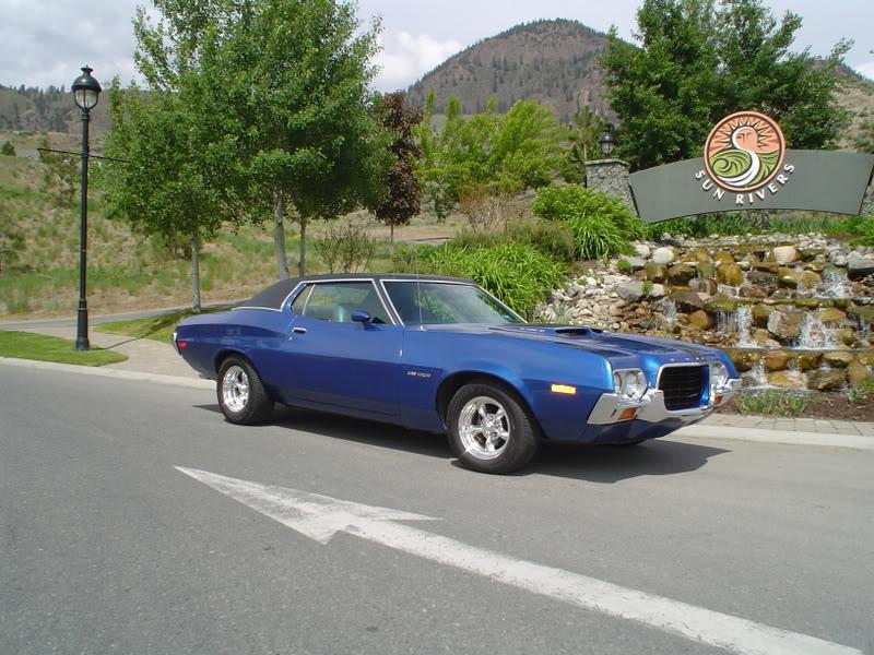 '72 Gran Torino formal roof triple blue TTIIs