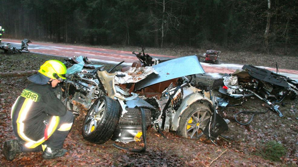 Ferrari-Crash